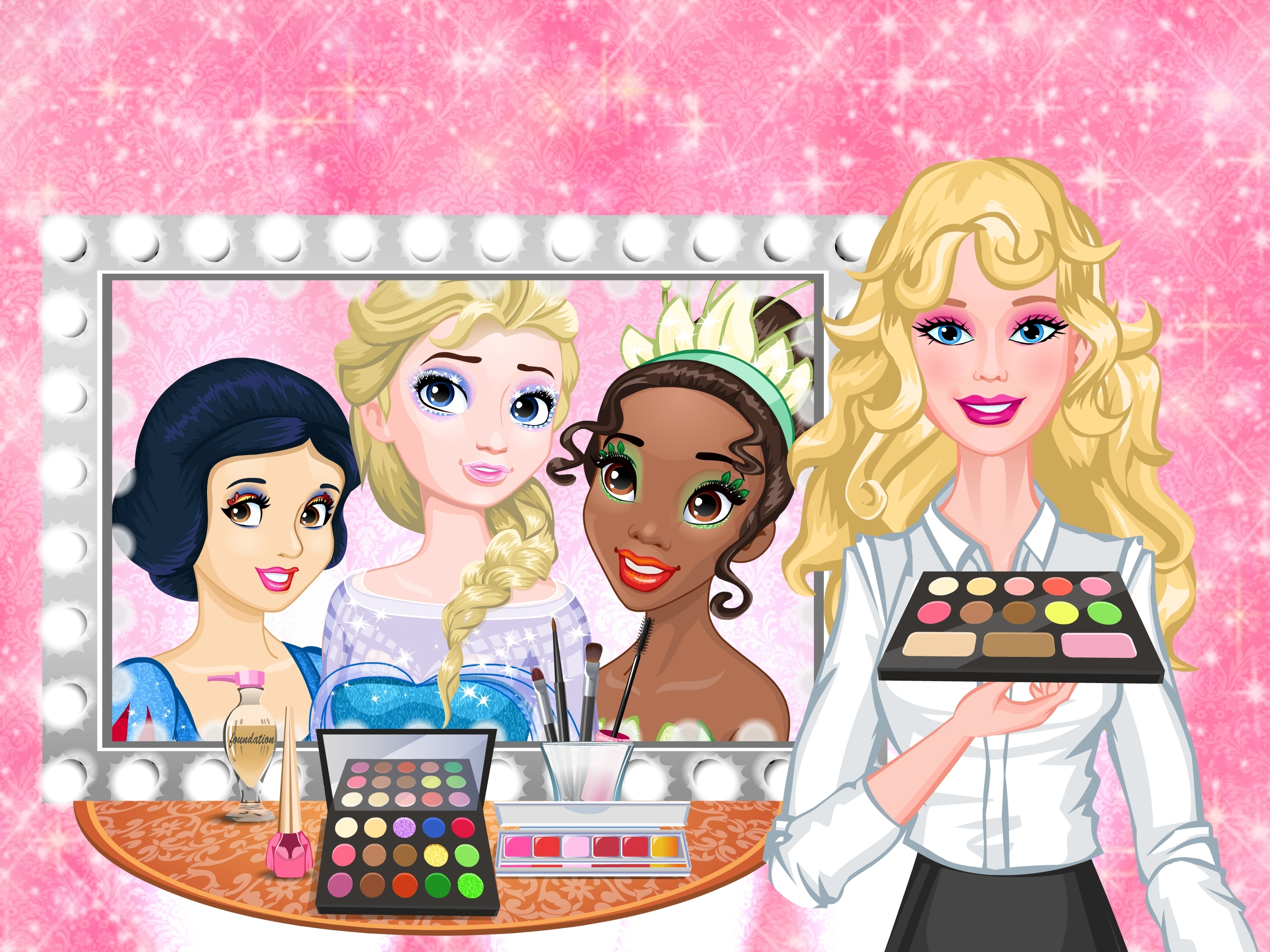 Igrica za decu Barbie's Royal Makeup Studio